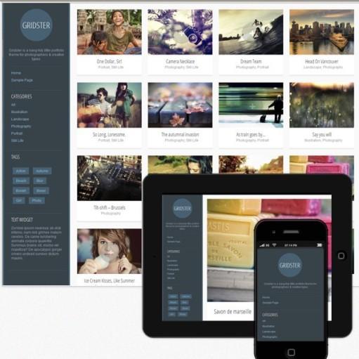 Gridster WordPress Grid Portfolio Theme Review – Theme Furnace
