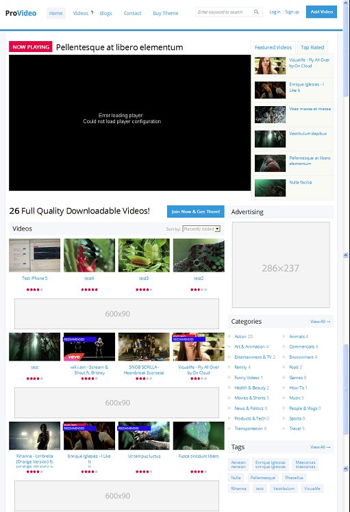 ProVideo Drupal Theme : ThemeSnap Responsive Video Theme