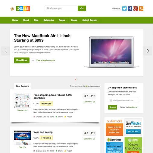Deals WordPress Theme : ThemeJunkie Responsive WordPress Coupon Theme