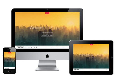 Fullpane WordPress Theme - A Full Section Scrolling Theme