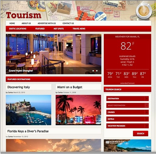 Tourism WordPress Theme – A WordPress Travel Theme