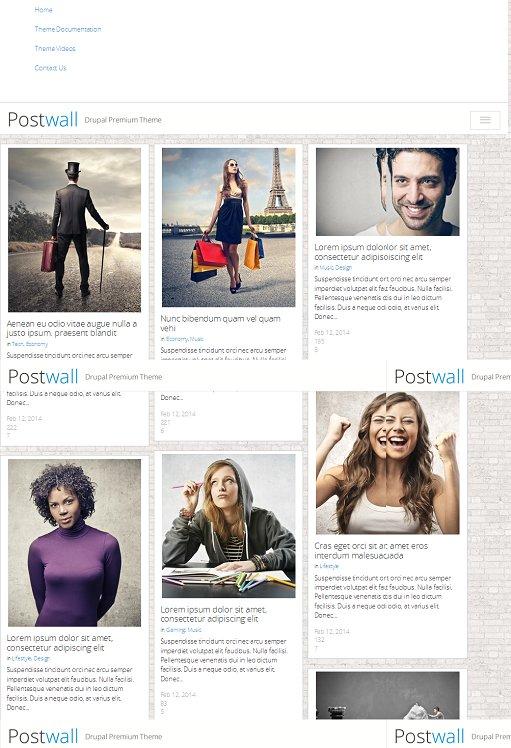 Postwall Drupal Theme : Responsive Bootstrap Magazine Theme