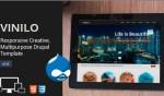 Vinilo Responsive Drupal Portfolio Theme : ThemeSnap