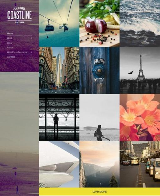 Coastline WordPress Theme - A Cssigniter Theme For Photographers