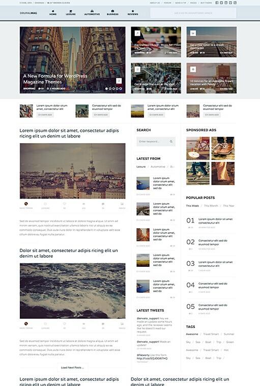 DrupalMag Drupal Theme - Magazine & News Drupal Theme