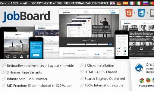 JobBoard Drupal Theme - Responsive Drupal Job Board Theme