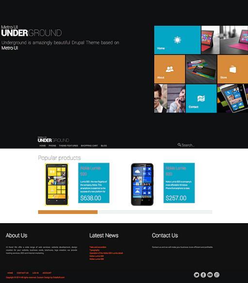 OS Underground Drupal Theme - A Ubercart eCommerce Theme