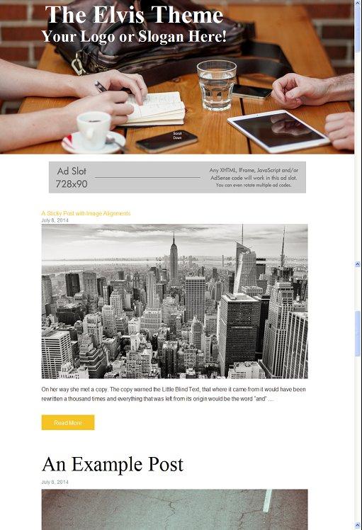 Elvis WordPress Theme – A RichWP Blogging Theme