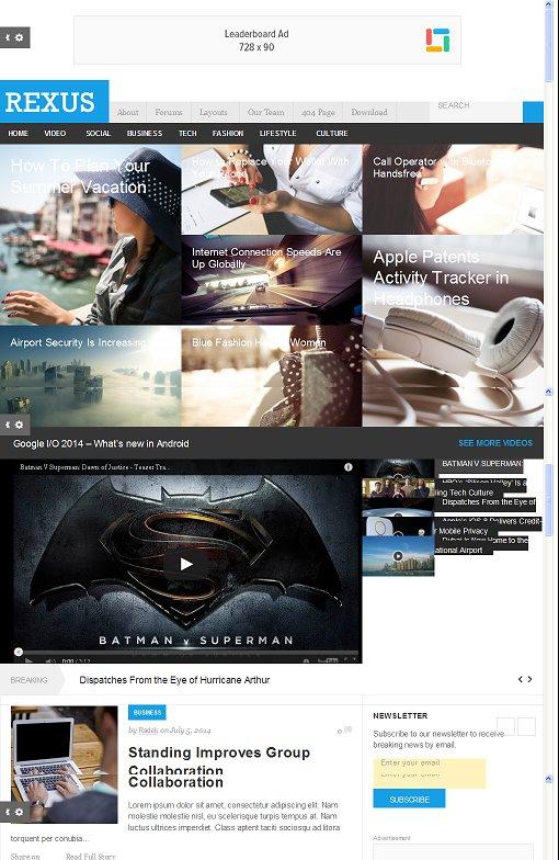Rexus WordPress Theme Junkie - A Responsive Magazine Theme