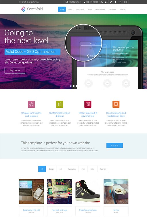 Sevenfold WordPress Theme - A TeslaThemes Multipurpose Theme