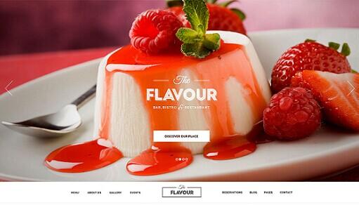 The Flavour WordPress Theme - ThemeFuse Restaurant Theme
