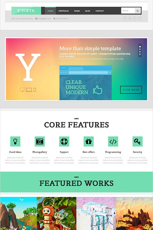 Yopta WordPress Creative Theme
