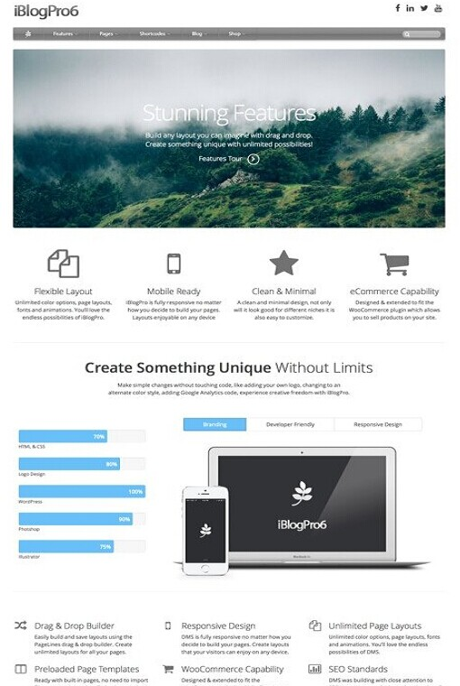 iBlogPro WordPress Theme – A Drag & Drop Apple Inspired Theme