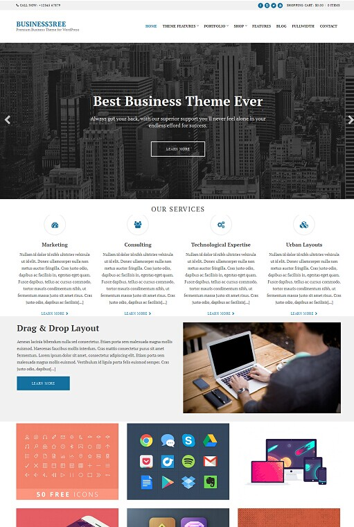 Business3ree CSSIgniter Business / Portfolio Theme