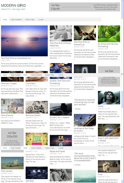 ModernGrid WordPress Theme - A RichWP Modern Grid Theme