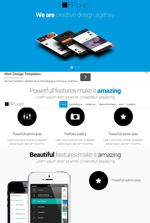 OS Flat Pixel Drupal Theme - A Flat Design Drupal Theme