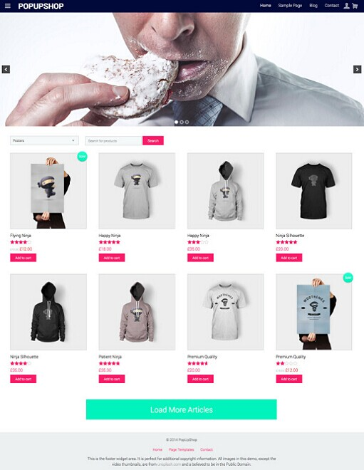 Pop Up Shop WordPress Theme – A RichWP ECommerce Theme
