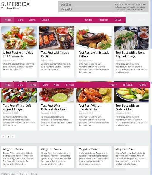 Superbox WordPress Theme - A RichWP Grid Style Blogging Theme