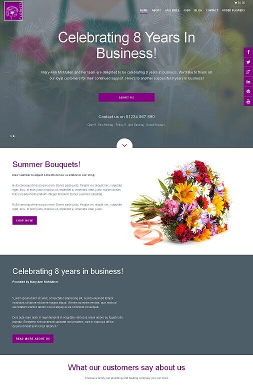 Florists Pro WordPress Theme - A FrogsThemes Florist Blog Theme