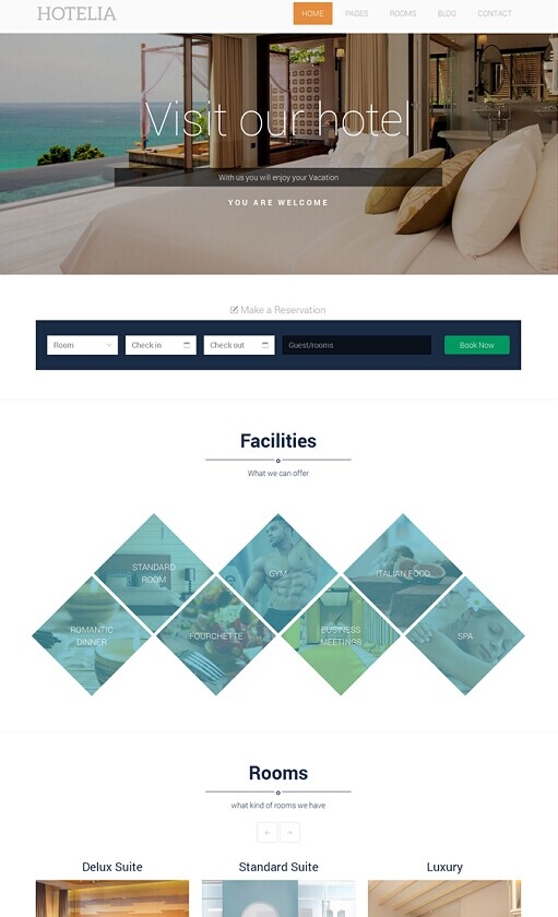 Hotelia WordPress Theme - A TeslaThemes Hotel Theme