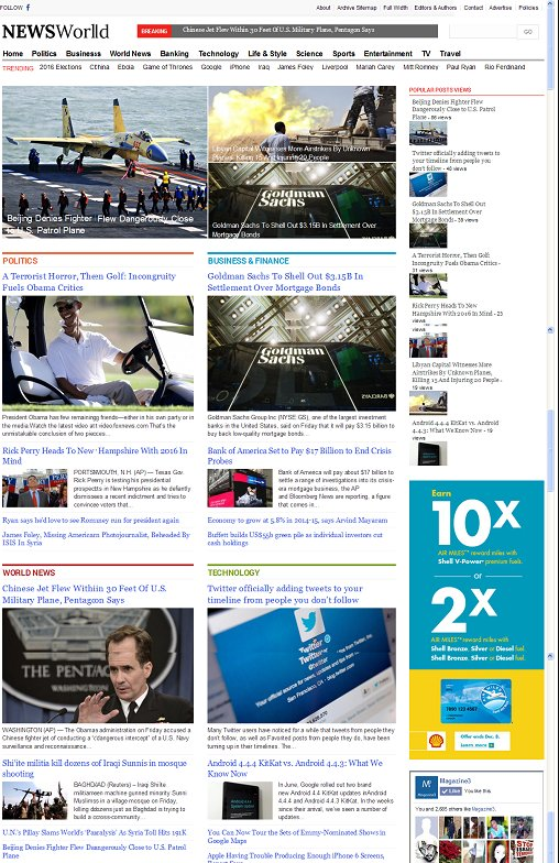 NewsWorld WordPress Theme - A Magazine3 Political Magazine Theme