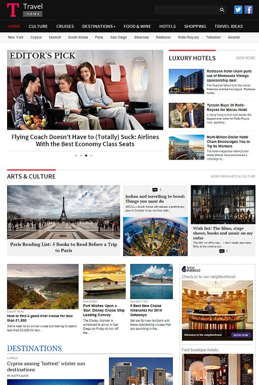 TravelNews WordPress Theme - A Magazine3 Travel Magazine Theme