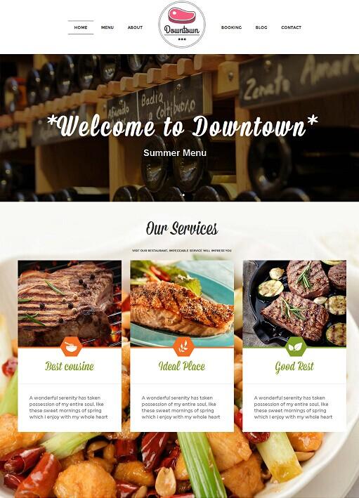 Downtown WordPress Theme – A TeslaThemes Restaurant Theme