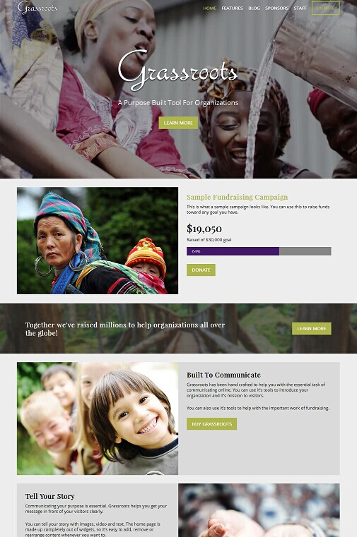 Grassroots WordPress Theme - A Organized Themes Non-Profit Theme