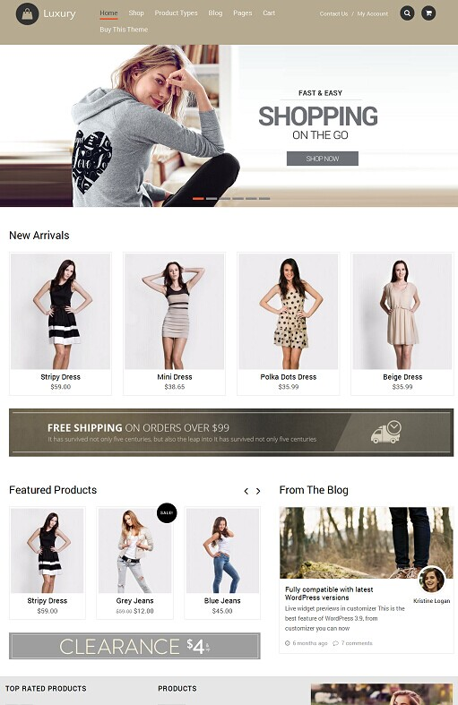 Luxury WordPress Theme - A Templatic Luxury eCommerce theme