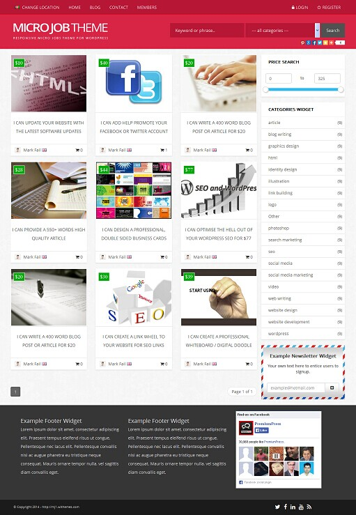 Micro Job WordPress Theme - A PremiumPress Micro Jobs Theme