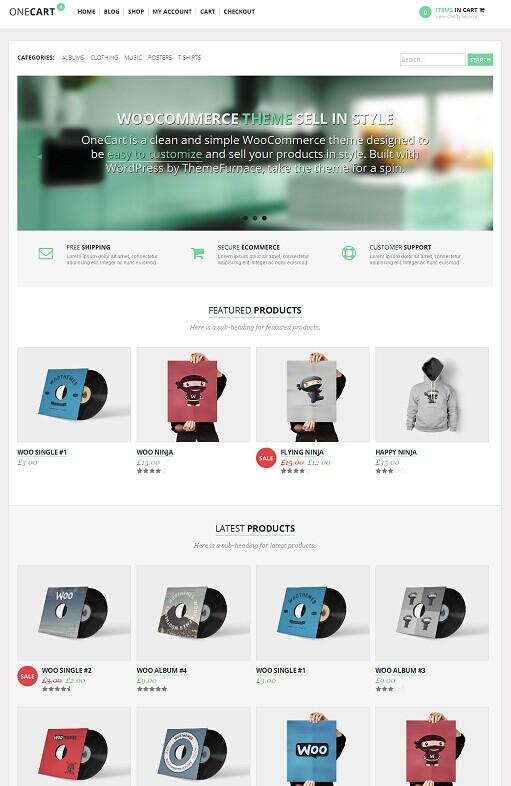 OneCart WordPress Theme - A ThemeFurnace eCommerce Theme