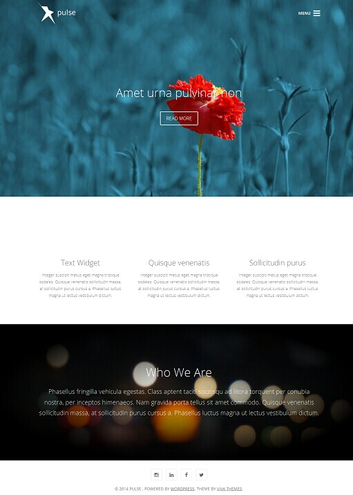 Pulse WordPress Theme - A Viva Themes Clean Business Theme
