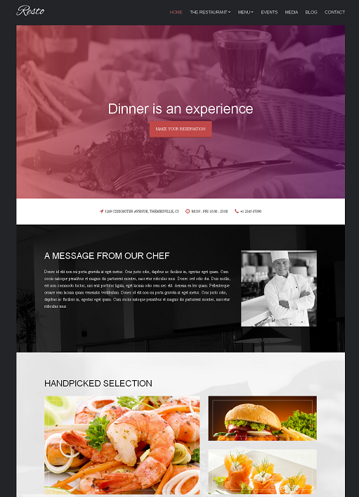Resto WordPress Theme – A CSSIgniter Restaurant Theme