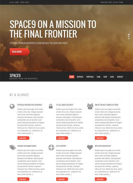 Space9 WordPress Theme - Another CSSIgniter Business Theme