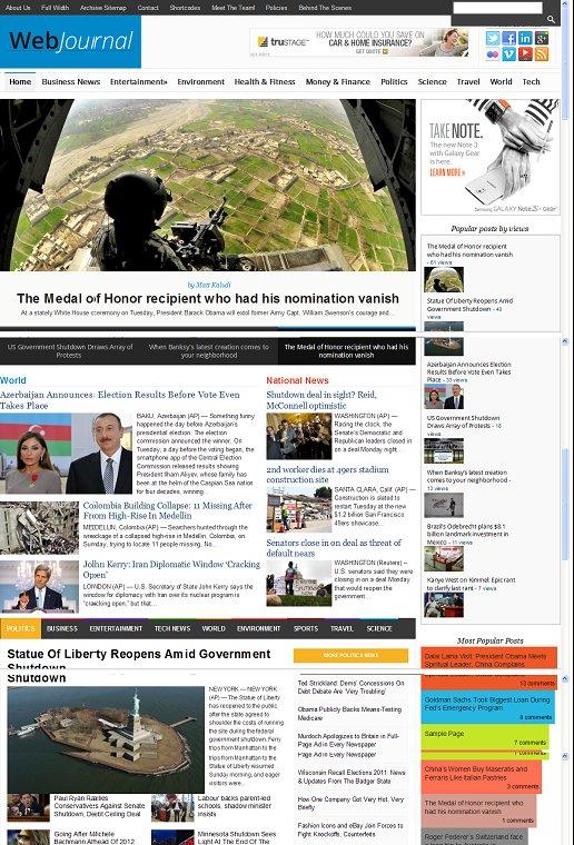 WebJournal WordPress Theme - A Magazine3 Magazine theme