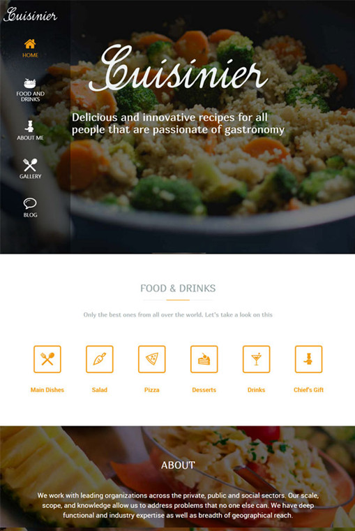 Cuisinier WordPress Theme - A TeslaThemes Food Blog Theme