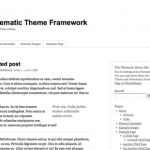 Thematic a free, highly extensible WordPress Theme Framework