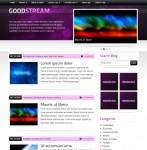 GoodStream Purple/ Black WordPress Theme