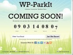 """Coming Soon"" Domain Park WordPress Theme: WP ParkIt Theme"
