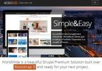 Worldwide Drupal Theme : One-Page Responsive Portfolio Theme